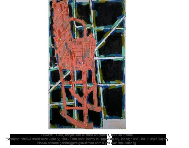 Chair #1, 1983